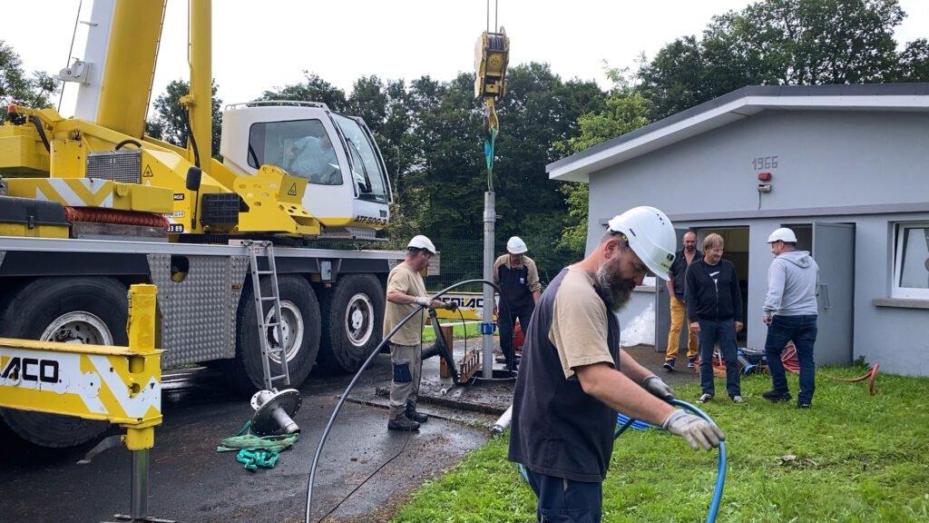 Pallier le risque de manque d'eau potable à Etting et à Kalhausen