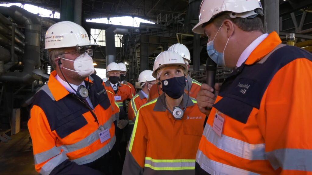La ministre Agnès Pannier-Runacher en reconquête industrielle à Hayange