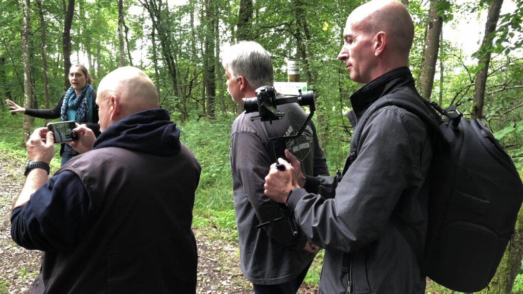Des figurants au Simserhof pour tourner une vidéo touristique