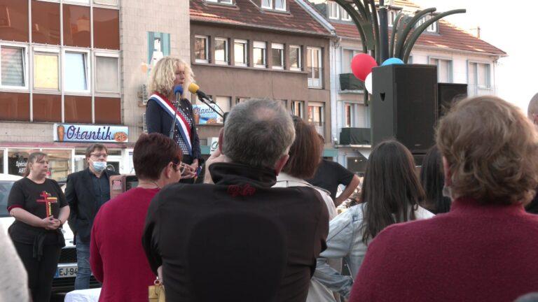 La députée Martine Wonner a participé à la manifestation anti pass sanitaire à Forbach