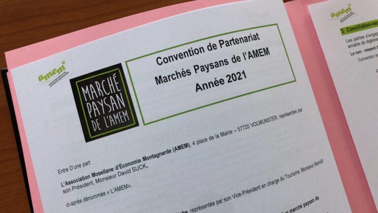 Marché paysan à Meisenthal: une convention de partenariat entre l'AMEM et la CCPB