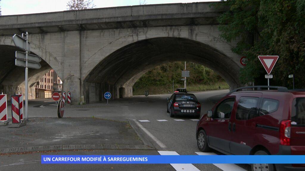 Un carrefour modifié à Sarreguemines